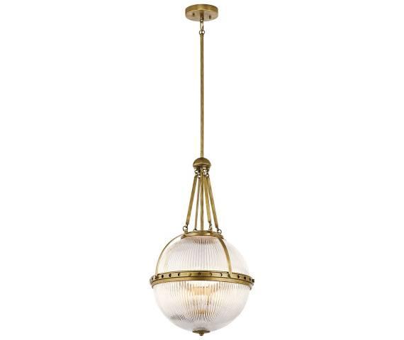 Lampa wisząca Aster Kichler dekoracyjna oprawa w kolorze mosiężnym
