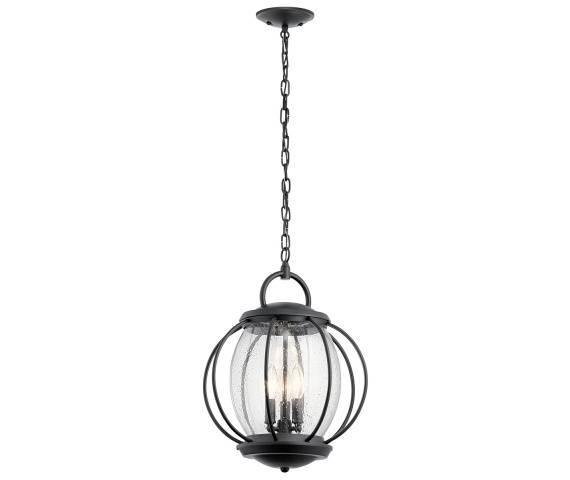 Lampa wisząca Vandalia L IP44 KL/VANDALIA8/L Kichler czarna oprawa w dekoracyjnym stylu