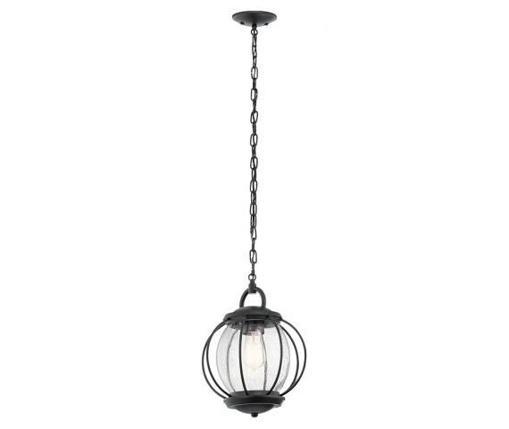 Lampa wisząca Vandalia M IP44 KL/VANDALIA8/M Kichler czarna oprawa w dekoracyjnym stylu