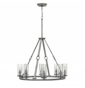 Żyrandol Dakota HK/DAKOTA8 Hinkley niklowana lampa w dekoracyjnym stylu