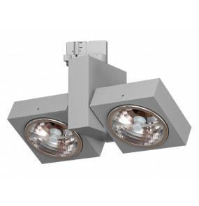 Reflektor do szynoprzewodu Aspen 2 T008A2Th101 Cleoni oprawa kierunkowa w kolorze aluminium