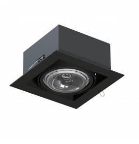 Oprawa wpuszczana z ramką Mara T018P1Ah116 oczko stropowe minimalistyczne czarne