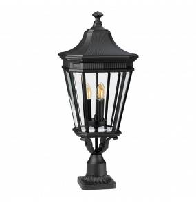 Lampa stojąca Cotswold Lane FE/COTSLN3/L BK Feiss klasyczna latarnia ogrodowa w kolorze czarnym