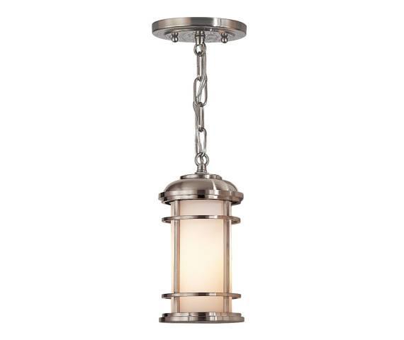 Lampa wisząca Lighthouse FE/LIGHTHOUSE8/S Feiss nowoczesna oprawa w kolorze szczotkowanej stali
