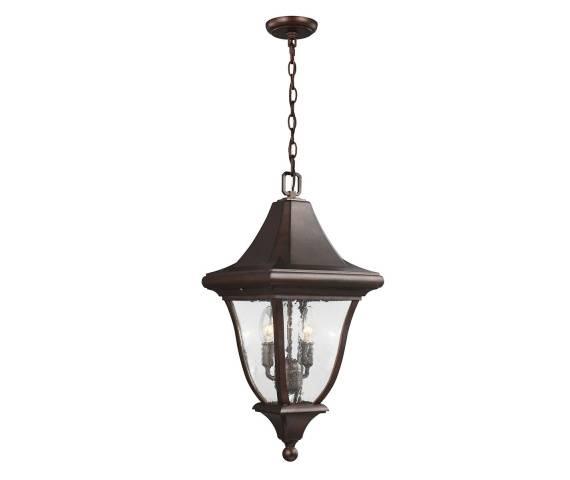 Lampa wisząca Oakmont FE/OAKMONT8/M Feiss brązowa oprawa w klasycznym stylu