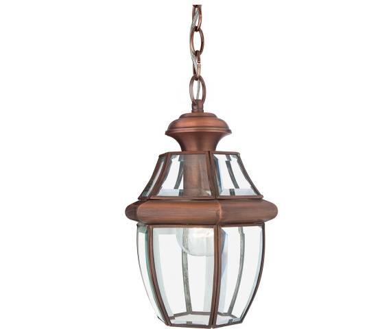 Lampa wisząca Newbury QZ/NEWBURY8/M AC Quoizel zewnętrzna oprawa  w kolorze miedzi