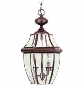 Lampa wisząca Newbury QZ/NEWBURY8/L AC Quoizel zewnętrzna oprawa  w kolorze miedzi
