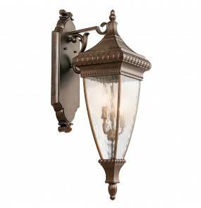 Kinkiet Venetian Rain KL/VENETIAN2/L Kichler brązowa oprawa ścienna w dekoracyjnym stylu