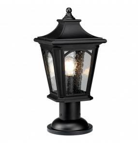 Lampa stojąca Bedford QZ/BEDFORD3/M Quoizel latarnia ogrodowa w kolorze czarnym