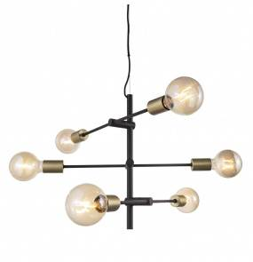 Żyrandol Josefine 48933003 Nordlux czarno-mosiężna oprawa w dekoracyjnym stylu
