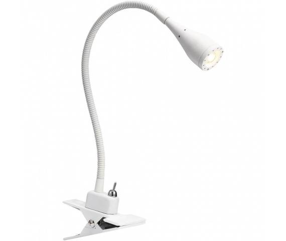 Lampa biurkowa Mento 75582001 Nordlux biała oprawa z klipsem