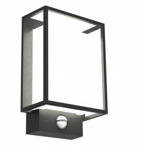 Kinkiet zewnętrzny Nestor z czujnikiem ruchu 49051503 Nordlux czarno-biała oprawa w nowoczesnym stylu