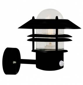 Kinkiet zewnętrzny z czujnikiem ruchu Blokhus 25031003 Nordlux czarna oprawa w nowoczesnym stylu