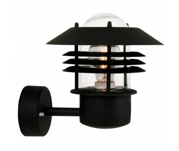 Kinkiet zewnętrzny Vejers 25091003 Nordlux czarna oprawa ścienna w nowoczesnym stylu