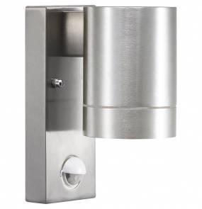 Kinkiet zewnętrzny Tin Maxi z czujnikiem ruchu 21509129 Nordlux minimalistyczna oprawa w kolorze aluminium