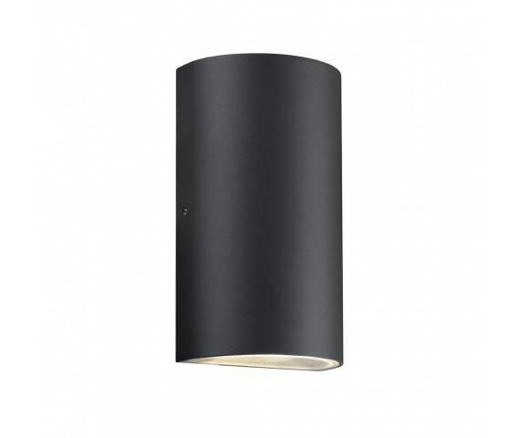 Kinkiet zewnętrzny Rold 84141003 Nordlux podwójna oprawa w kolorze czarnym