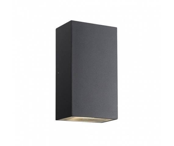 Kinkiet zewnętrzny Rold 84151003 Nordlux podwójna oprawa w kolorze czarnym