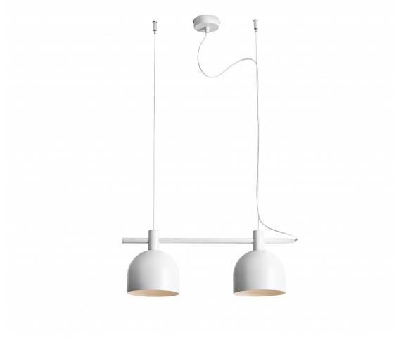 Lampa wisząca BERYL WHITE 976H Aldex minimalistyczna oprawa zwieszana w kolorze białym