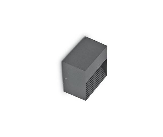 OFERTA MAGAZYNOWA Kinkiet Down AP1 122045 Ideal Lux zewnętrzna oprawa ścienna w kolorze antracytu