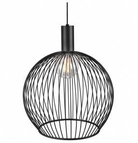 Lampa wisząca Aver 50 84263003 Nordlux czarna ażurowa oprawa w dekoracyjnym stylu