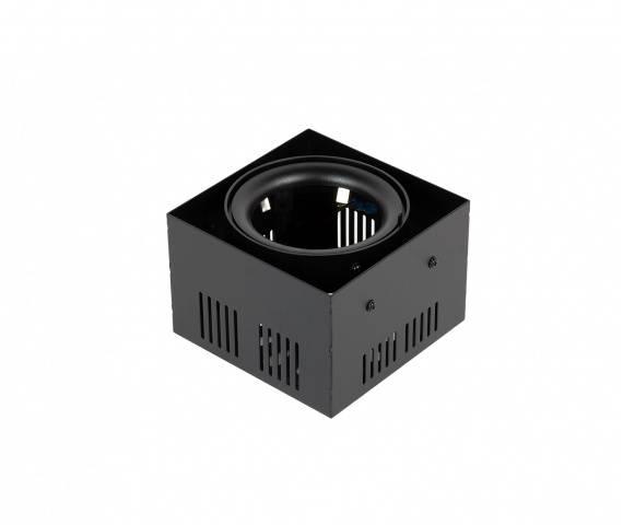 Oprawa wpuszczana Crosti Tiena 453497 Oxyled czarna pojedyncza prostokątna oprawa sufitowa