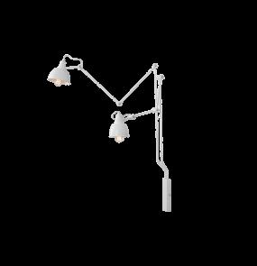 Kinkiet AIDA WHITE 814D Aldex podwójna ruchoma oprawa ścienna w kolorze białym