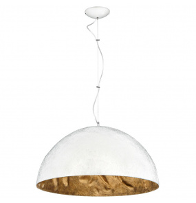 Lampa wisząca SIMI WHITE 766E Aldex biało-złota oprawa w dekoracyjnym stylu