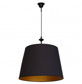 Lampa wisząca CHOCCO 933G Aldex pojedyncza czarna oprawa w minimalistycznym stylu