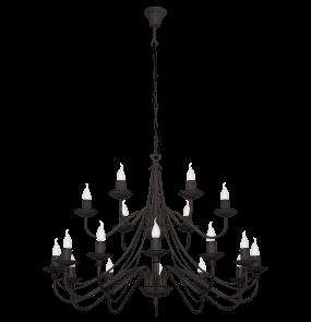 Żyrandol Róża 397S1 Aldex czarna piętrowa oprawa w klasycznym stylu