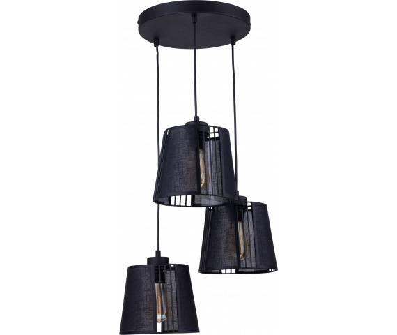 Lampa wisząca Carmen Black 1550 TK Lighting nowoczesna oprawa w kolorze czarnym