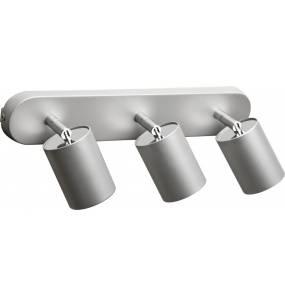 Plafon Eye Spot 6141 Nowodvorski Lighting potrójna oprawa w kolorze srebrnym