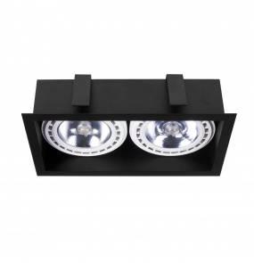 Oprawa wpuszczana Mod 9416 Nowodvorski Lighting podwójna oprawa w kolorze czarnym