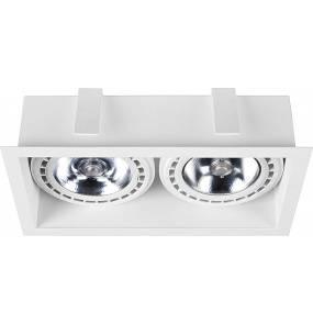 Oprawa wpuszczana Mod 9412 Nowodvorski Lighting podwójna oprawa w kolorze białym