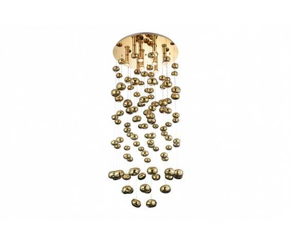 Plafon Luvia XL AZ3073 AZzardo dekoracyjna oprawa w kolorze złotym