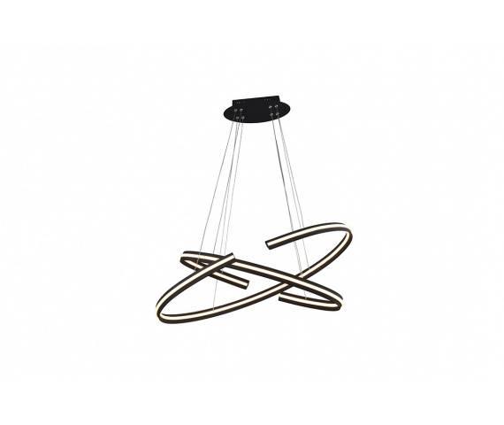 Lampa wisząca Alessia DIMM AZ3355 AZzardo czarno-białe okręgi LED w stylu design