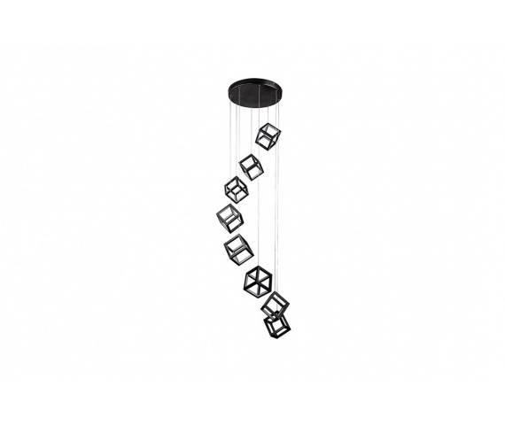 Lampa wisząca Strange 8 DIMM AZ3151 AZzardo dekoracyjna czarna oprawa w nowoczesnym stylu