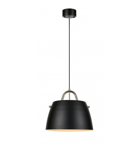 Lampa wisząca Spin 107728 Markslojd czarno-stalowa oprawa w nowoczesnym stylu