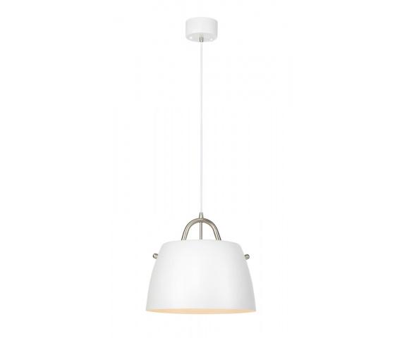 Lampa wisząca Spin 107727 Markslojd biało-stalowa oprawa w nowoczesnym stylu