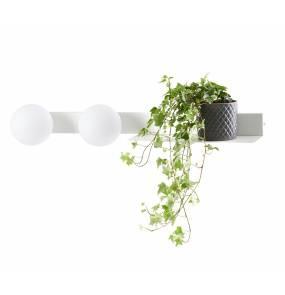 Kinkiet Botanica Deco 20852201 KASPA biała oprawa ścienna z półką