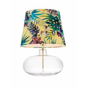 Lampa stołowa Feria 2 40905114 KASPA żółta oprawa z dekoracyjnym abażurem