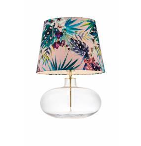 Lampa stołowa Feria 2 40910116 KASPA różowa oprawa z dekoracyjnym abażurem