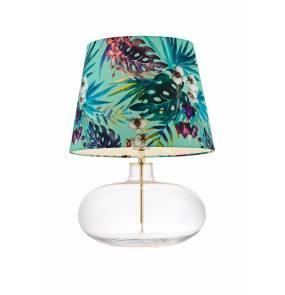 Lampa stołowa Feria 2 40915113 KASPA zielona oprawa z dekoracyjnym abażurem