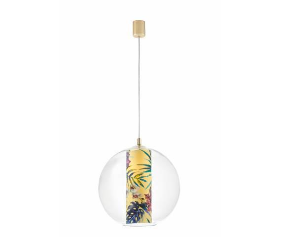 Lampa wisząca Feria L 10903114 KASPA kulista oprawa z motywem kwiatowym