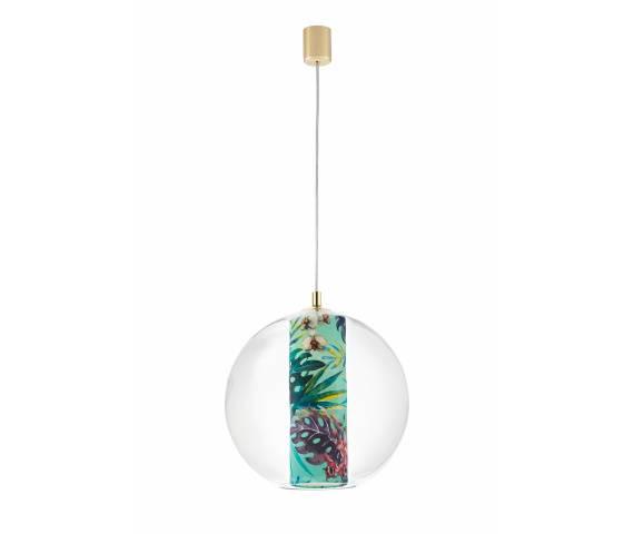 Lampa wisząca Feria L 10913113 KASPA szklana oprawa z motywem kwiatowym