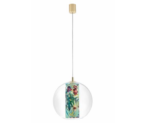 Lampa wisząca Feria M 10912113 KASPA kulista oprawa z dekoracyjnym kloszem