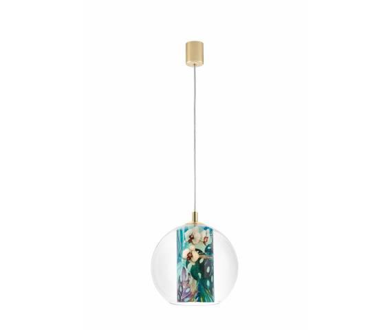 Lampa wisząca Feria S 10911113 KASPA dekoracyjna oprawa z kulistym kloszem