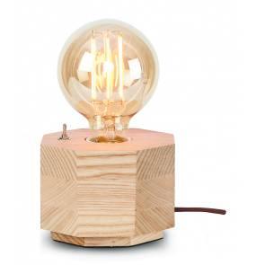 Lampa stołowa Kobe Hexagon KOBE/TH It's About Romi geometryczna oprawa z drewna
