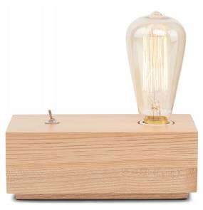 Lampa stołowa Kobe KOBE/TR It's About Romi podłużna oprawa z drewna jesionu