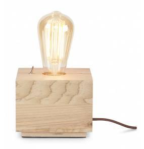 Lampa stołowa Kobe KOBE/TS It's About Romi drewniana oprawa w kształcie kostki