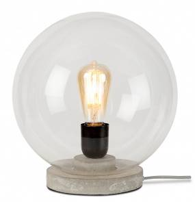 Lampa stołowa Warsaw WARSAW/T30/LG It's About Romi szklana oprawa z betonową podstawą